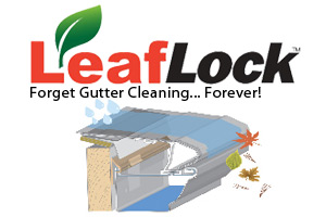 leaflock gutter systems will never clog and you will never have to clean your gutters again
